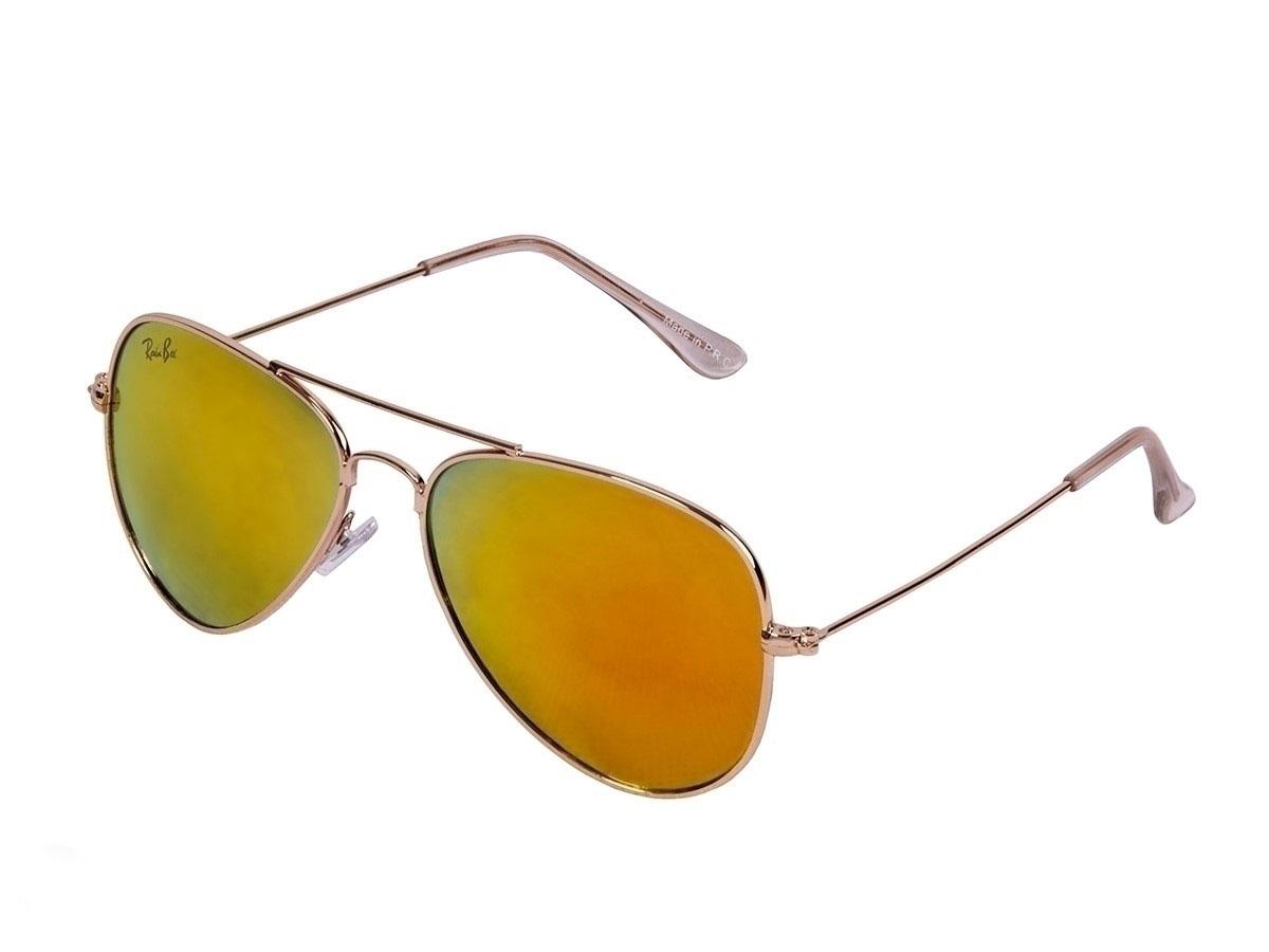عینک-آفتابی-شیشه-طلایی-ریبن