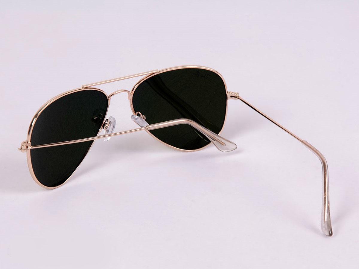 عینک-آفتابی-ریبن-خلبانی-طلایی-مدل-3025